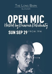 Twice monthly Open Mic hosted by Damian Delahunty